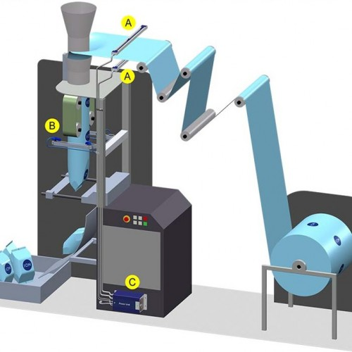 Vertical form, fill and seal machine